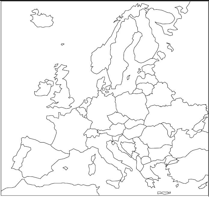 nijema karta evrope Zemljevidi | Društvo učiteljev geografije Slovenije nijema karta evrope