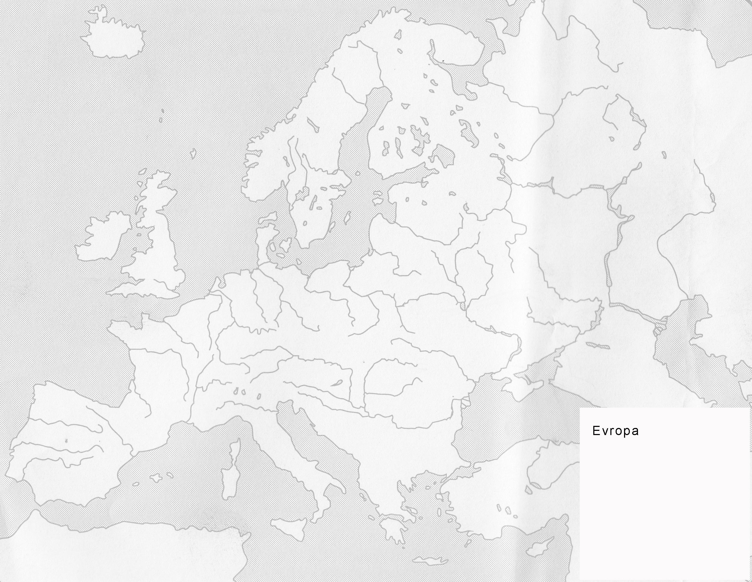 Nema Karta Evrope Reke Superjoden