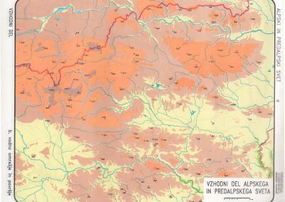 Vzohdni del Alpskih in Predalpskih pokrajin-povrsje