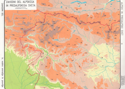 Zahodni del Alpskih in Predalpskih pokrajin-povrsje
