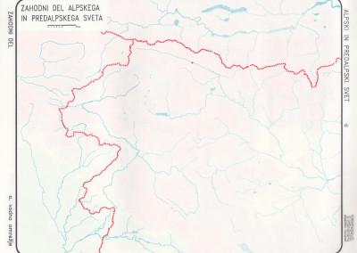 Zahodni del Alpskih in Predalpskih pokrajin-vodovje